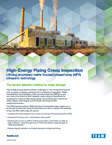 High Energy Piping Flyer